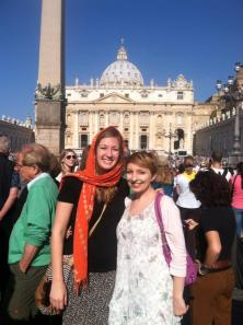 Here's a side-note, I got to see the pope at the vatican a few weeks ago. :)